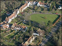 Aerial picture of houses in Letchworth Garden City (Credit: Letchworth Garden City Heritage Foundation)
