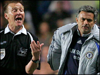 Graham Poll and Jose Mourinho
