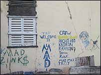 Gang graffiti in Trench Town