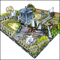 Design of the Doctor Who garden