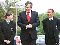 Gordon Brown in school