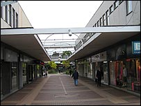 Bracknell's main shopping precinct