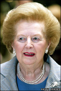 Baroness Thatcher arrives at the Imperial War Museum
