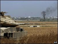 Israeli tank near Karni