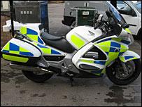 Police Honda motorbike