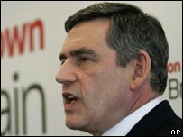 Gordon Brown launches his leadership campaign