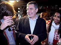 Gordon Brown meets students in Brighton 2007