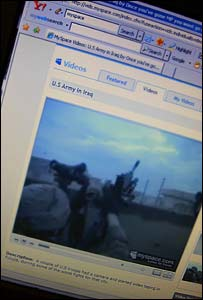 Iraq war video seen on MySpace