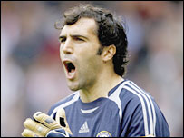 Chelsea keeper Hilario