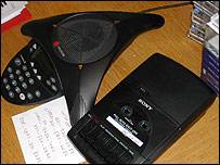 Altaf Hussain's telephone