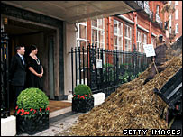 The manure dumped outside Claridge's
