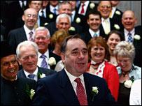 Alex Salmond with SNP MSPs