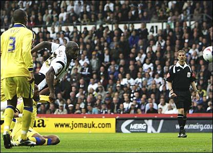 Darren Moore scores for Derby