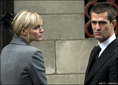 Model Sophie Dahl and actor Rupert Everett