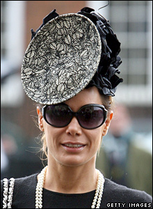 Tara Palmer Tomkinson at the funeral service of Isabella Blow