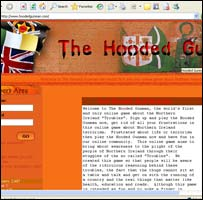 The Hooded Gunman web page