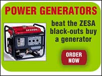 Zimbuyer screen grab showing power generators for sale