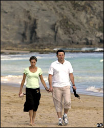 Kate and Gerry on beach