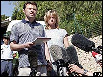 The McCanns face the media