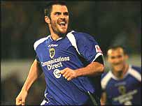 Cardiff City striker Steve Thompson
