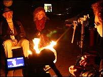 Julien Temple filming The Future Is Unwritten