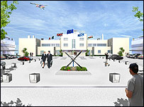 An artist's impression of the new terminal building (supplied by Shoreham Airport)