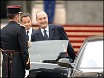 Jacques Chirac leaves Elysee Palace - 16/5/07