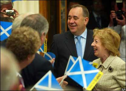 Alex Salmond and wife Moira Salmond