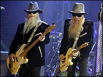Billy Gibbons (right) and Dusty Hill of ZZ Top perform during the VH1 Rock Honors