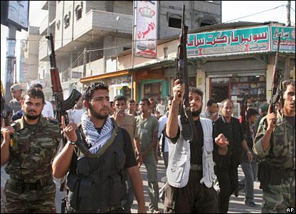 Fatah gunmen, Deir El Balah refugee camp