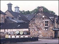 Dalmore whisky distillery