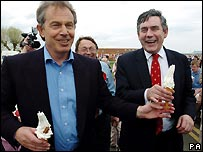 Tony Blair, Gordon Brown and two ice creams
