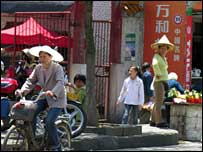 More bikes than cars in the country: Luizhou street scene