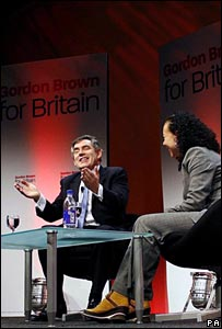 Gordon Brown and Oona King