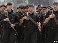 Fuerzas de seguridad de Mahmoud Abbas