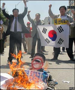 South Korean demonstrators