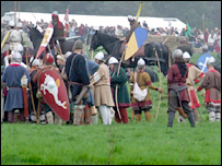 Gail in the thick of it at the Battle of Hastings re-enactment