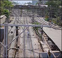 Railway lines in Mumbai