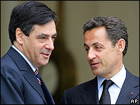 Francois Fillon and Nicolas Sarkozy