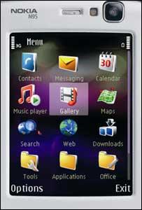N95 menu, Nokia