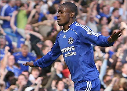 Kalou celebrates his 86th-minute equaliser