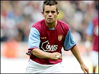 Aston Villa midfielder Lee Hendrie