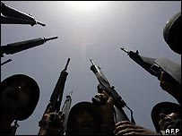 Iraqi army rifles