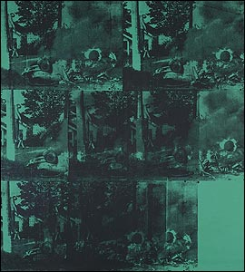 Andy Warhol's Green Car Crash (Green Burning Car I)