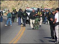 La policía se organiza en las cercanías de Arizpe, en el estado de Sonora