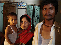 Vegetable seller Mukesh and his family