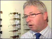 Michael Gilsenan's opticians is the only place in supplying this sort of coloured glasses
