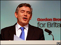 Gordon Brown accepts the nomination