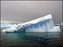 Iceberg in the Southern Ocean   Image: BBC