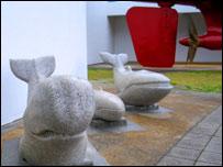 Sculptures. Image: BBC